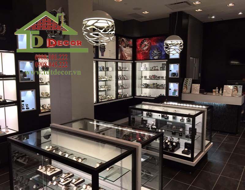 thiết kế shop đồng hồ