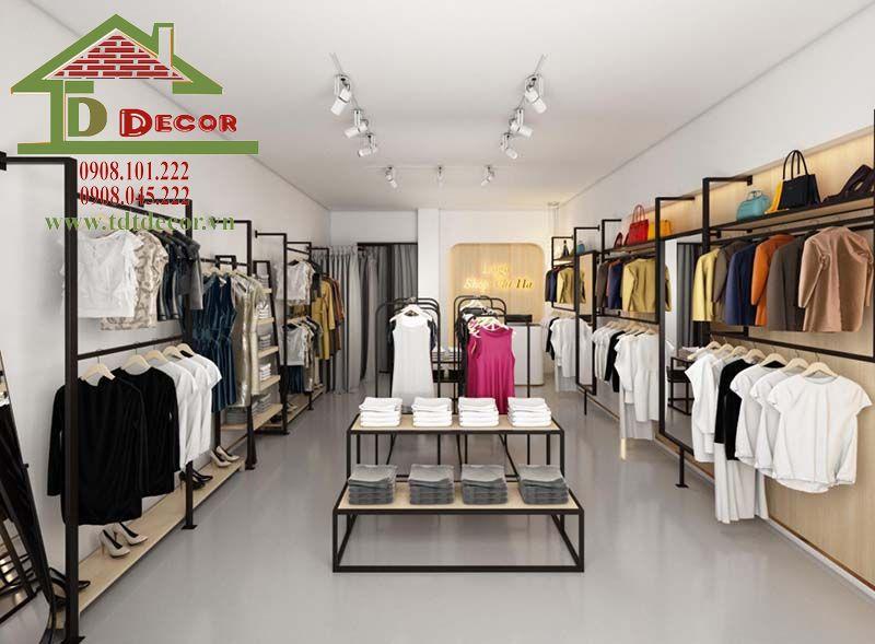 Thiết kế thi công shop thời trang chị Diệu Long An