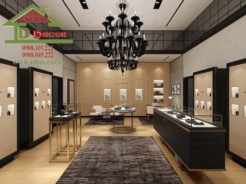 Thiết kế cửa hàng đồng hồ anh Tâm Gò Vấp