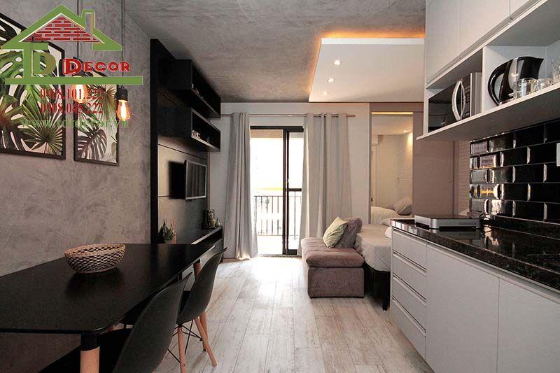 Thiết kế nội thất chung cư Ehome 4 anh Tùng Bình Dương