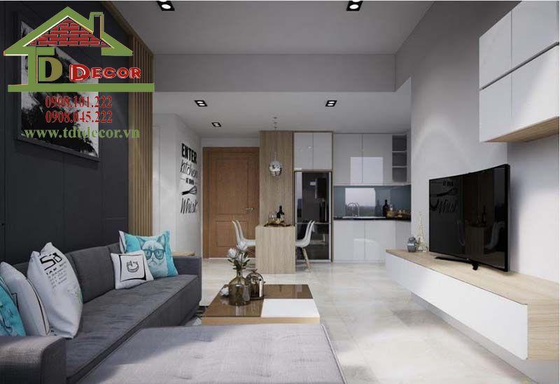 Thiết kế nội thất chung cư Man Thiện chị Hương quận 9