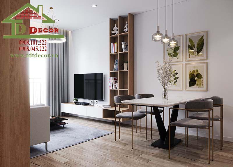 Thiết kế thi công nội thất chung cư Tân Đức anh Trần Long An