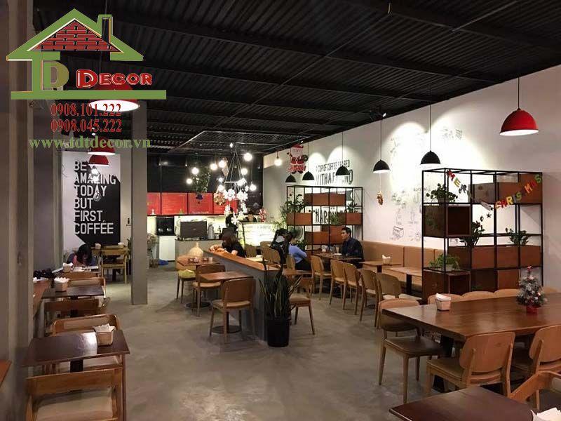 Thiết kế quán cafe anh Bình Gò Vấp