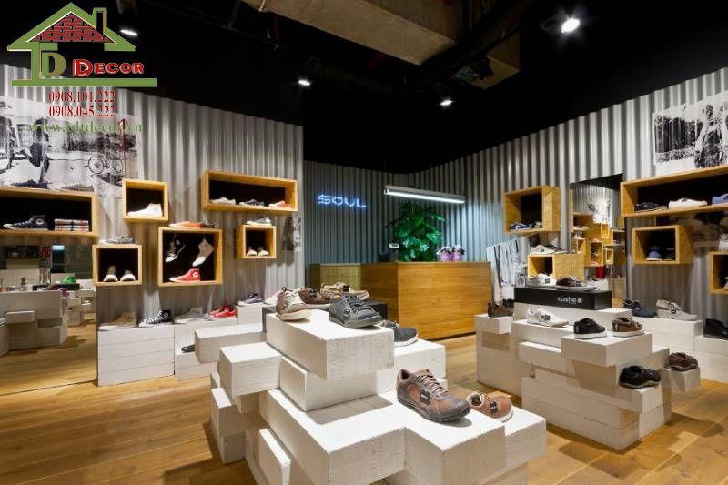 Thiết kế thi công cửa hàng giày dép anh Nam tại Củ Chi
