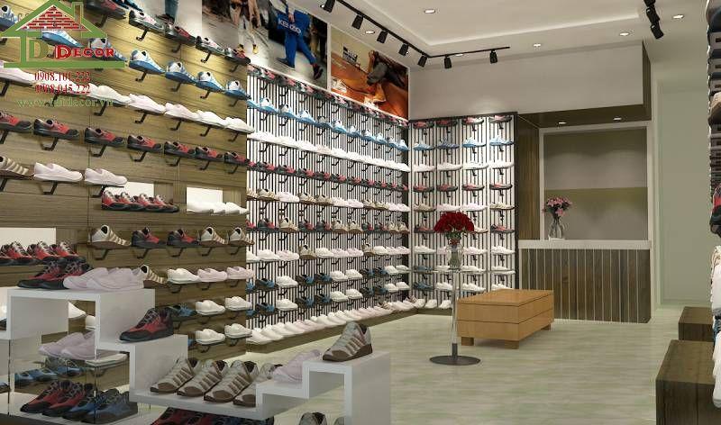 Thiết kế cửa hàng giày dép chị Trang Bình Dương
