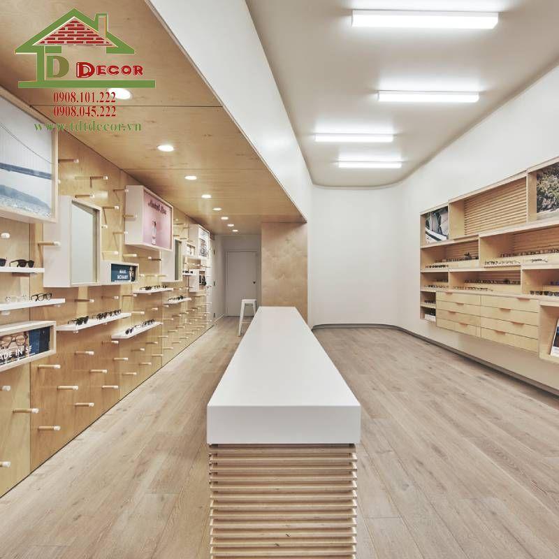 Thiết kế thi công cửa hàng mắt kính chị Hoa tại Gò Vấp