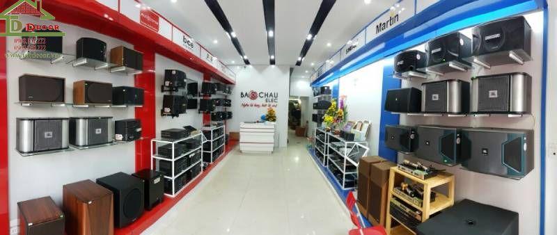 Thiết kế showroom loa anh Châu tại Hải Phòng