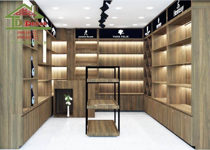 Thiết kế cửa hàng rượu anh Quyền Hóc Môn