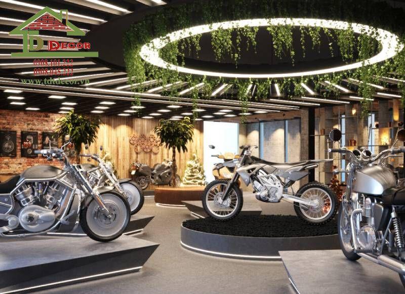 Thiết kế showroom xe máy chị Liên quận Tân Bình
