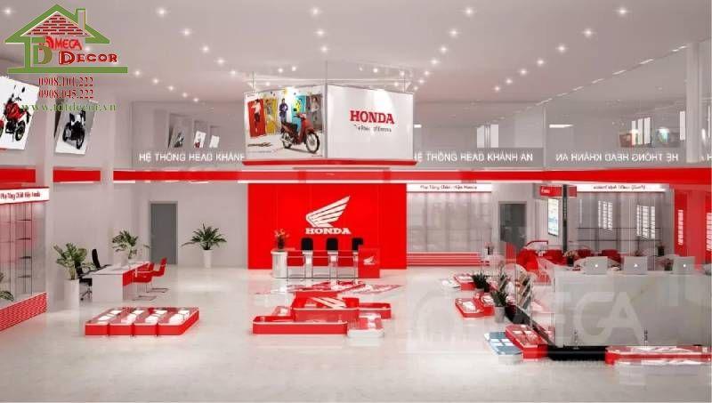 Thiết kế showroom xe máy chị Tùng quận 10
