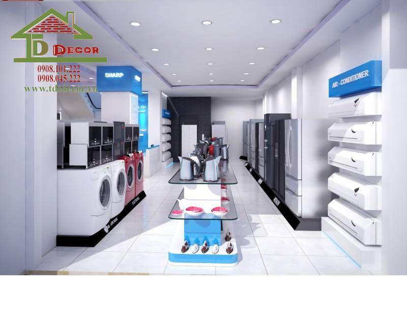 Thiết kế cửa hàng điện máy anh Thắng quận 7