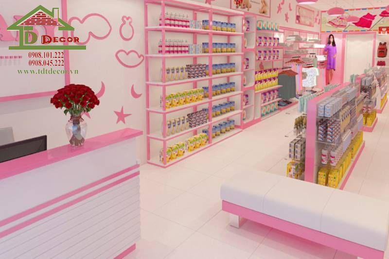Thiết kế cửa hàng mẹ và bé anh Quang quận 7