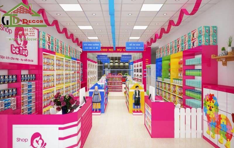 Thiết kế cửa hàng mẹ và bé anh Thanh quận 10