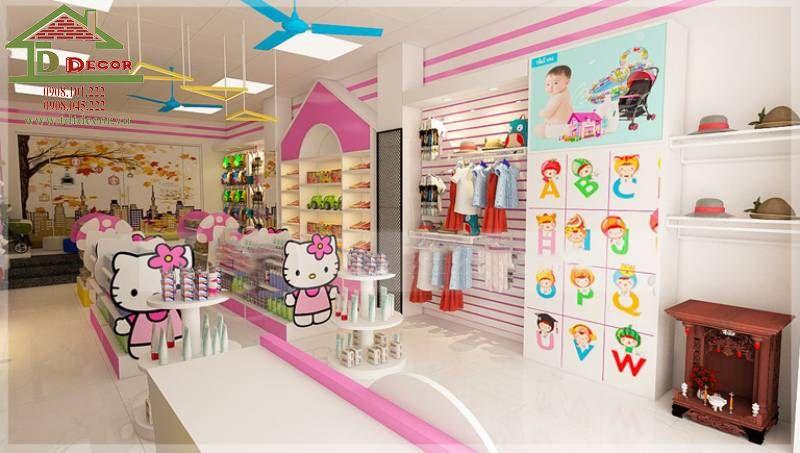 Thiết kế cửa hàng mẹ và bé chị Hoa quận Tân Bình