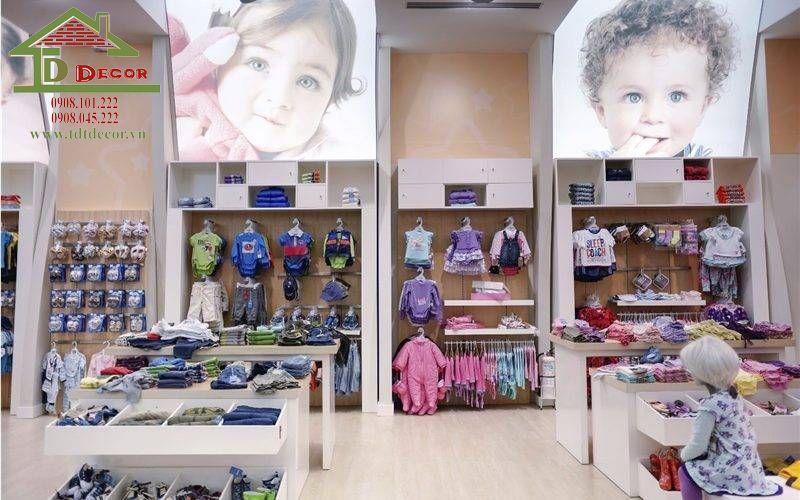Thiết kế cửa hàng mẹ và bé chị Hương tại Đồng Nai