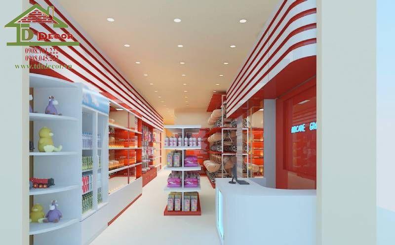 Thiết kế cửa hàng mẹ và bé chị Trà quận Bình Thạnh
