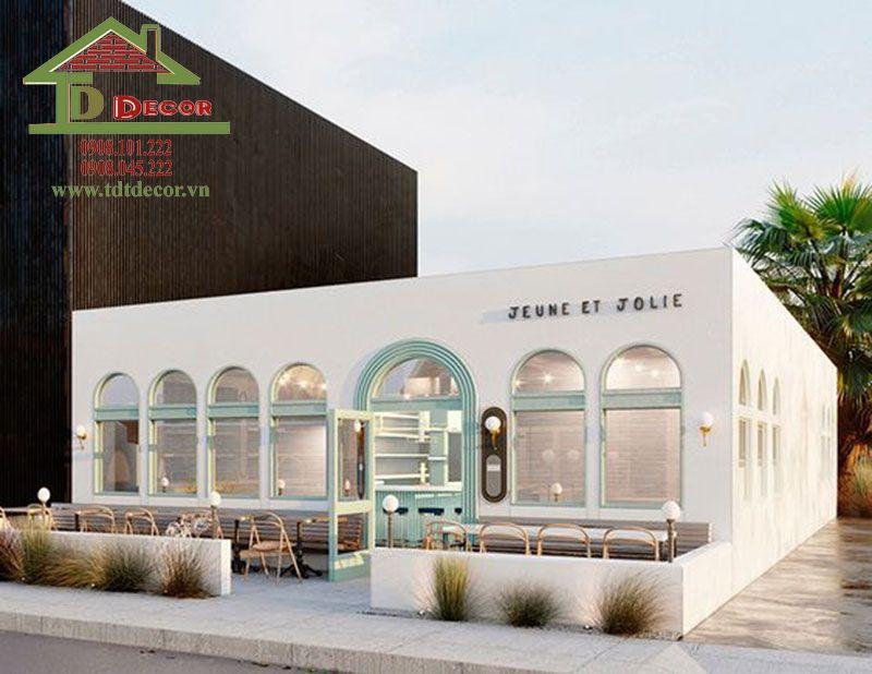 Thiết kế quán cafe 2 mặt tiền