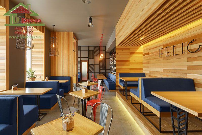 Thiết kế quán cafe 5x20m đẹp đạt tiêu chuẩn hút khách