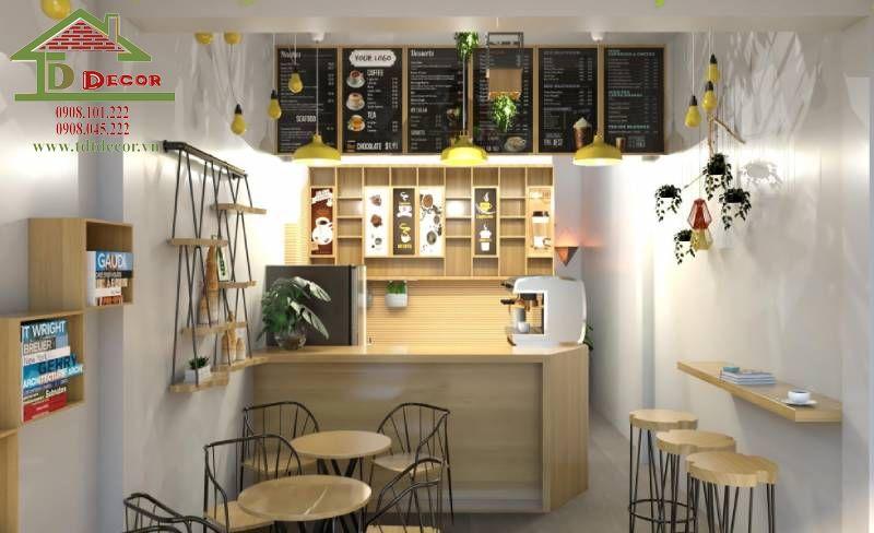 Thiết kế quán cafe chị Thu quận 11