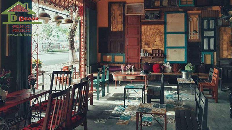 thiết kế quán cafe phong cách vintage