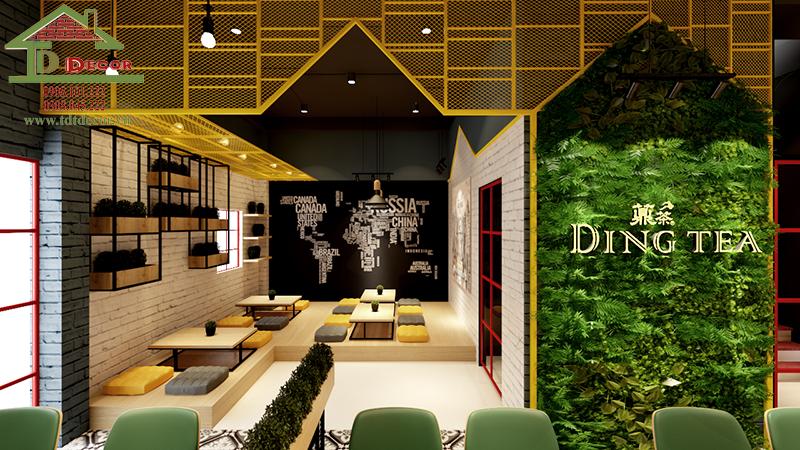 Khám phá bí quyết thiết kế quán trà sữa ngồi bệt đẹp thu hút khách