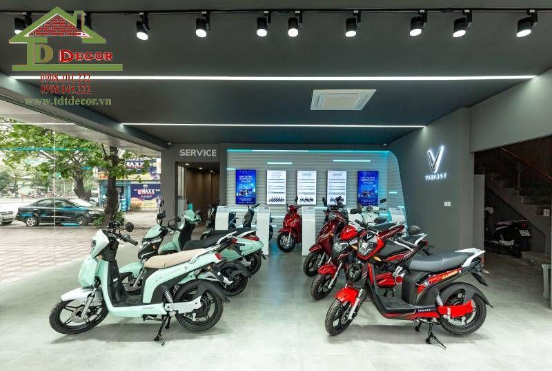 Thiết kế showroom xe máy anh Chí tại Hóc Môn