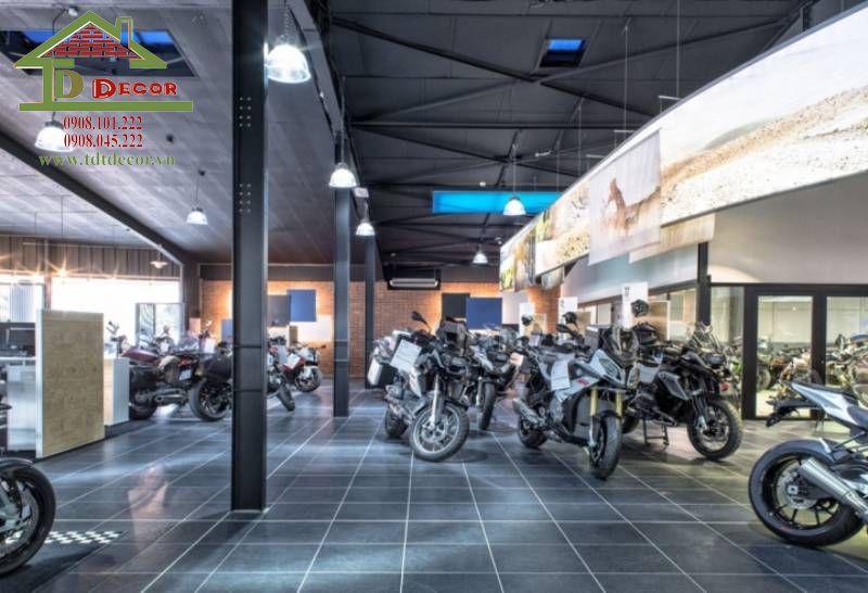 Thiết kế showroom xe máy anh Minh quận 7