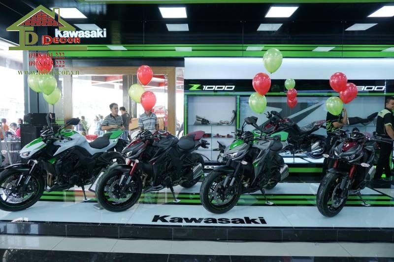 Thiết kế showroom xe máy anh Nhã tại Hà Nội