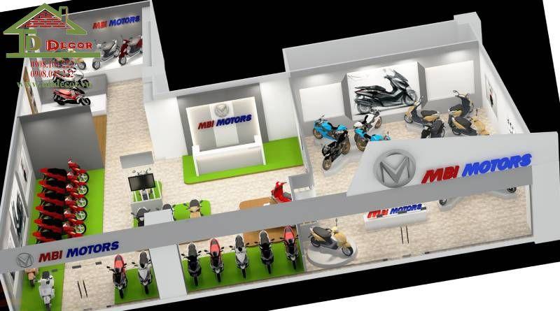 Thiết kế cửa hàng xe máy anh Thắng tại Thủ Đức