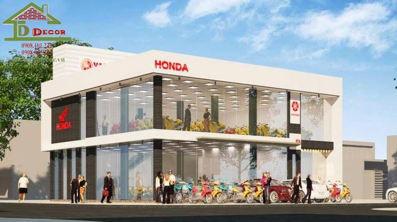 Thiết kế cửa hàng xe máy chị An quận 2