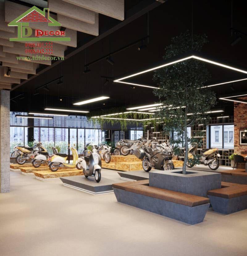 Thiết kế cửa hàng xe máy chị Lan quận Gò Vấp
