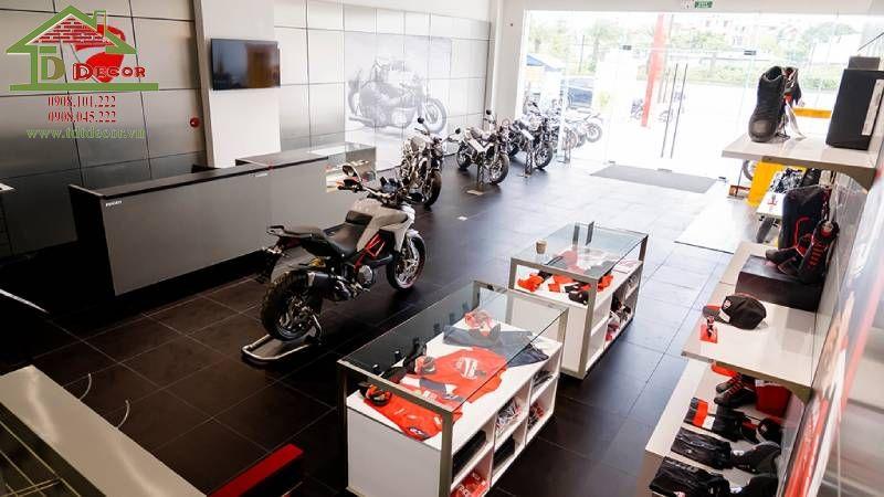 Thiết kế showroom xe máy chị Thủy Hà Nội