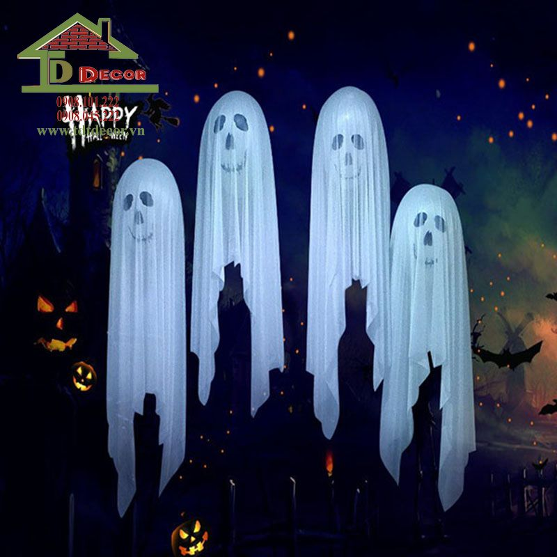 trang trí halloween cho quán trà sữa