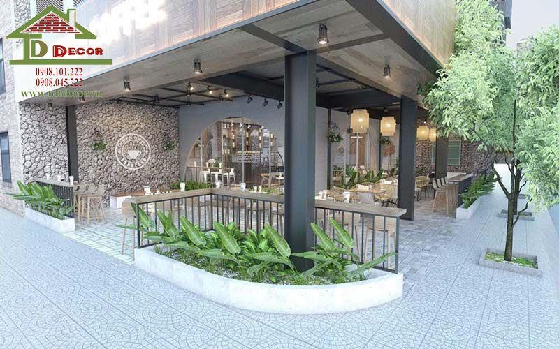 Ý tưởng thiết kế quán cafe 2 mặt tiền đẹp hút khách