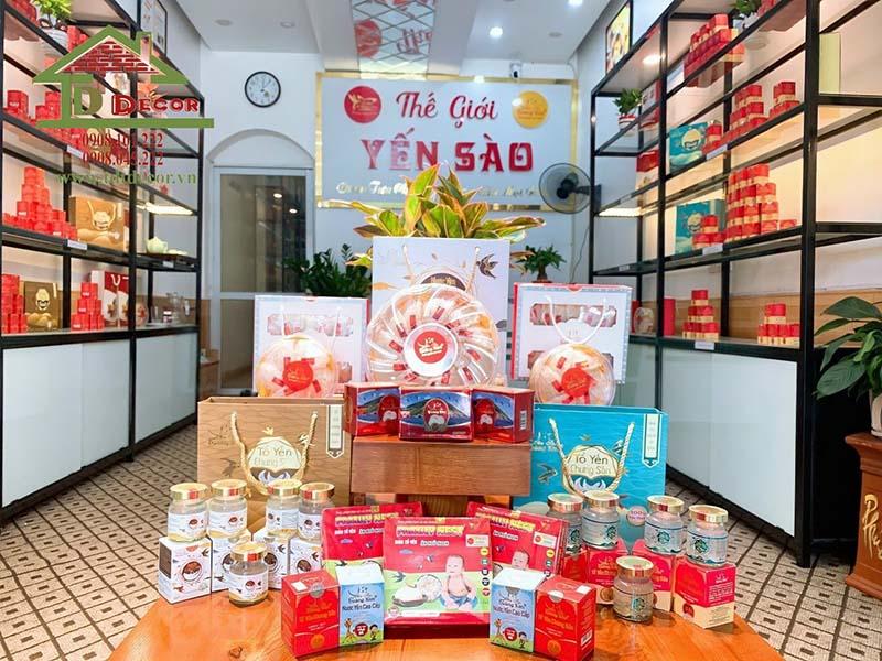 Thiết kế thi công shop yến sào anh Phạm tại Bắc Giang